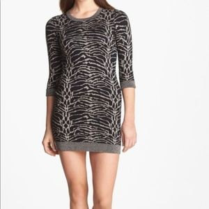 French Connection SnowTiger Metallic Sweater Dress